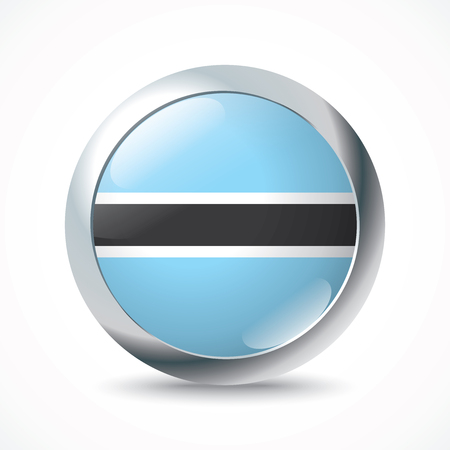 graphical chart: Botswana flag button - vector illustration