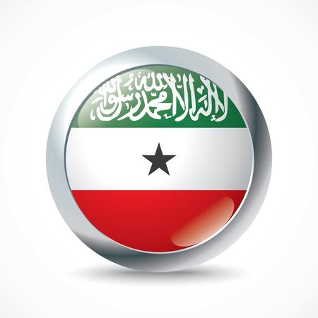 somaliland: Somaliland flag button - vector illustration
