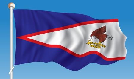 Flag of American Samoa - illustration Illustration
