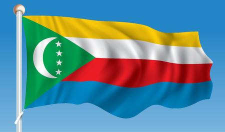 Flag of Comoros - illustration Illustration