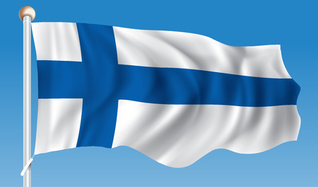 Flag of Finland - illustration