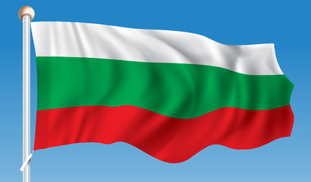 territory: Flag of Bulgaria - illustration