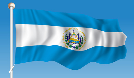 bandera de el salvador: Bandera de El Salvador - ilustración