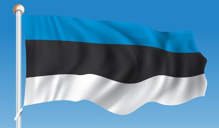 Flag of Estonia - illustration