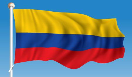 Drapeau de la Colombie - illustration