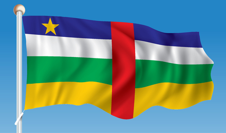 central african republic: Flag of Central African Republic - illustration