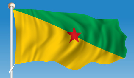 Flag of French Guiana - illustration