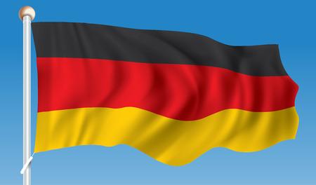Flag of Germany - illustration Illustration