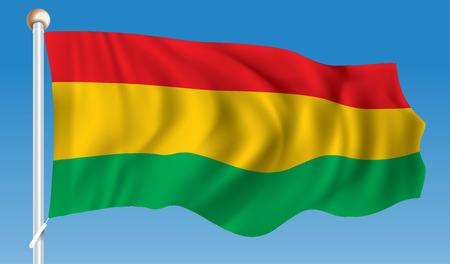 map bolivia: Bandera de Bolivia - ilustración Vectores
