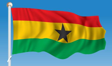 Ghana: Flag of Ghana - illustration