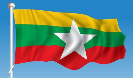 Flag of Burma - illustration
