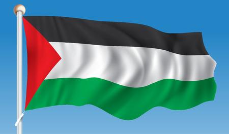 Flag of Gaza Strip - illustration Illustration