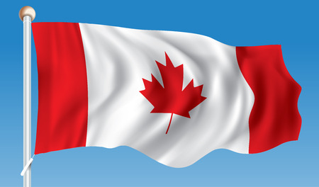 Flag of Canada - illustration Illustration