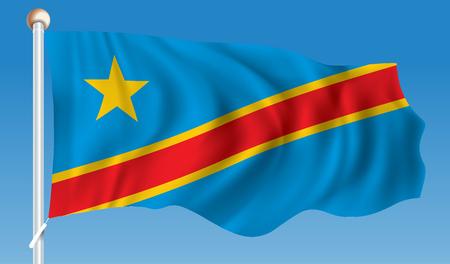 Flag of Democratic Republic of the Congo - illustration