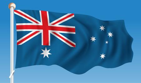 Flag of Australia - illustration