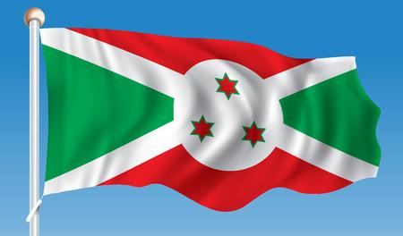 Flag of Burundi - illustration