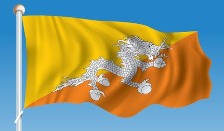 Flag of Bhutan - illustration