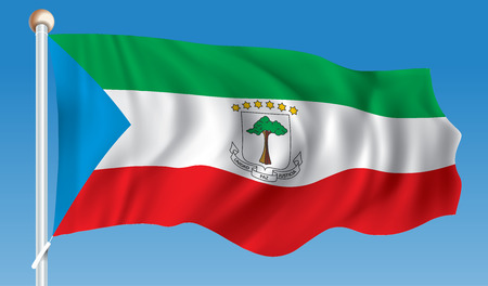 Flag of Equatorial Guinea - illustration