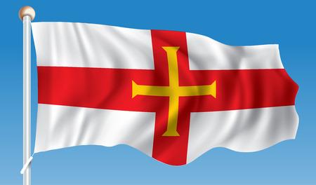 Flag of Guernsey - vector illustration Illustration