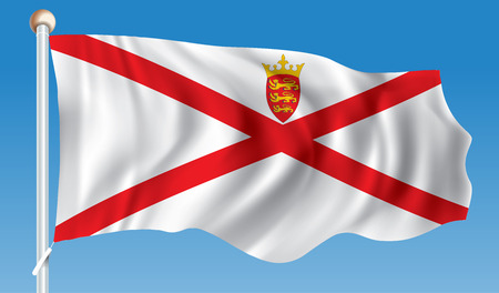 Flag of Jersey - vector illustration Illustration