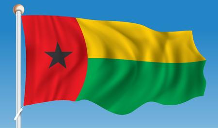Flag of Guinea-Bissau - vector illustration