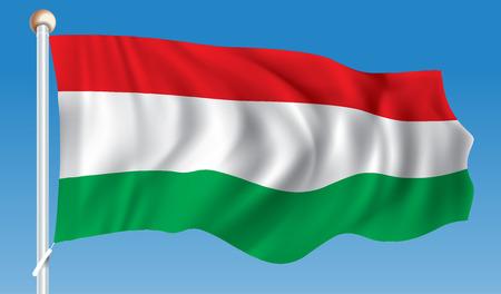 Flag of Hungary - vector illustration