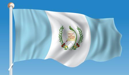 Flag of Guatemala - vector illustration Illustration