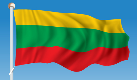 lithuania: Flag of Lithuania - vector illustration Illustration