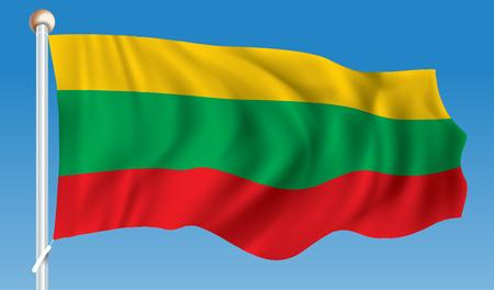 Flag of Lithuania - vector illustration Illustration