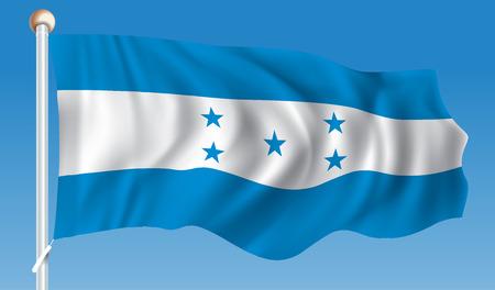 Flag of Honduras - vector illustration
