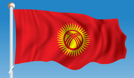Flag of Kyrgyzstan - vector illustration