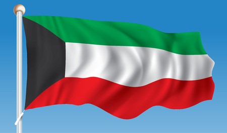 Flag of Kuwait - vector illustration