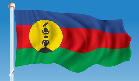 shinning: Flag of New Caledonia - vector illustration Illustration