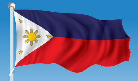 Flag of Philippines - vector illustration