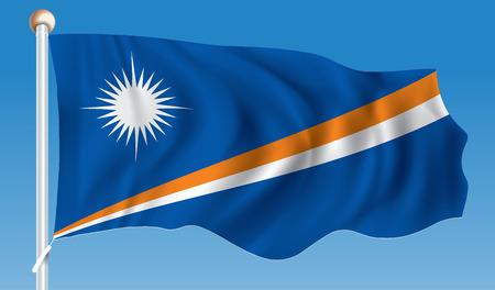 marshall: Flag of Marshall Islands - vector illustration Illustration