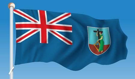 Flag of Montserrat - vector illustration