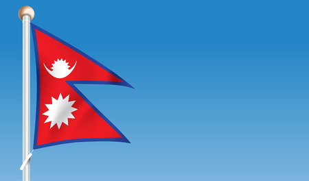 Flag of Nepal - vector illustration Illustration