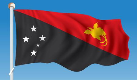 papua new guinea: Flag of Papua New Guinea - vector illustration