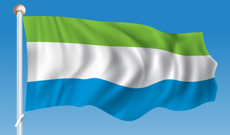 sierra leone: Flag of Sierra Leone - vector illustration