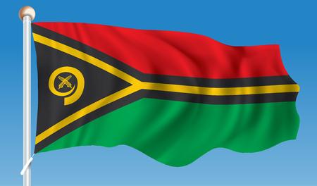 vanuatu: Flag of Vanuatu - vector illustration Illustration