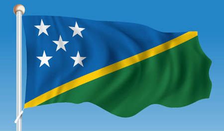 Flag of Solomon Islands - vector illustration