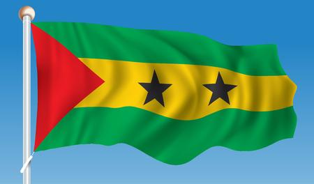 principe: Flag of Sao Tome and Principe - vector illustration
