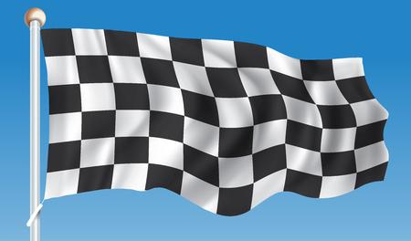 Checkered Race Flag - vector illustration Illustration