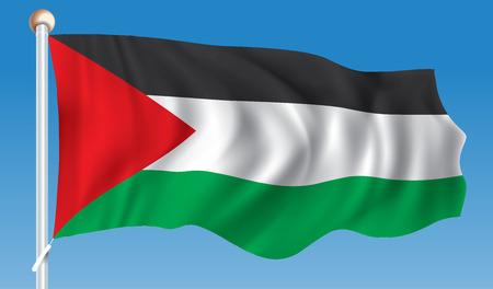 Flag of West Bank - vector illustration Illustration