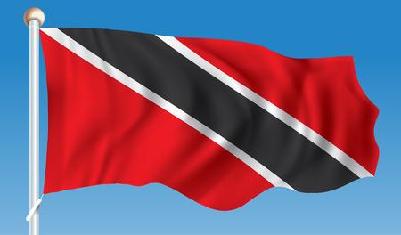 trinidadian: Flag of Trinidad and Tobago - vector illustration