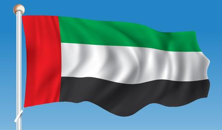 Flag of United Arab Emirates - vector illustration