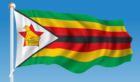 zimbabwe: Bandera de Zimbabwe - ilustración vectorial Vectores