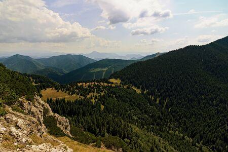 Panoramic view from Maly Rozsutec peak National park Mala Fatra, Slovakia Imagens
