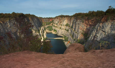 Quarry Great America (Vapencovy lom Velka Amerika) near Morina village in Central Bohemia, Czech Republic