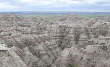 Scenic of rock formations in Badlands National Park, South Dakota.